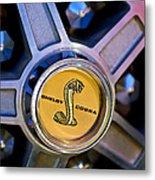 1968 Ford Shelby Gt500 Kr Convertible Wheel Emblem Metal Print
