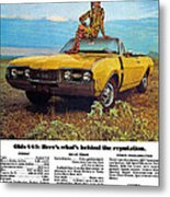 1968 Oldsmobile 4-4-2 - Here's What's Behind The Reputation. Metal Print