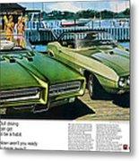 1969 Pontiac Gto And Firebird Metal Print