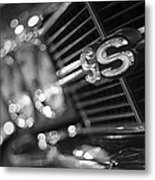 1970 Chevy Chevelle Ss 396 Black And White Metal Print
