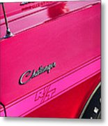 1970 Dodge Challenger Rt 440 Six Pack - Tickled Pink Metal Print