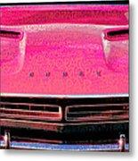 1971 Dodge Challenger - Pink Mopar Typography Metal Print
