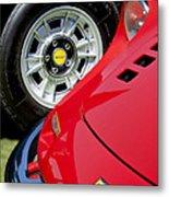 1973 Ferrari 246 Gts Dino Emblem 5 Metal Print