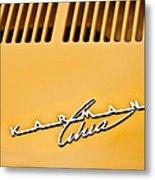 1973 Volkswagen Karmann Ghia Convertible Emblem Metal Print