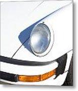1987 White Porsche 911 Carrera Front Metal Print