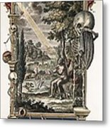 1731 Johann Scheuchzer Creation Of Man Metal Print