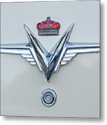 1953 Chrysler Imperial Custom Emblem Metal Print
