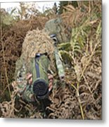 A British Army Sniper Team Dressed Metal Print