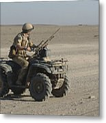 A British Army Soldier Provides Metal Print
