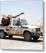 A Free Libyan Army Pickup Truck Metal Print