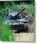 A Leopard 1a5 Mbt Of The Belgian Army Metal Print