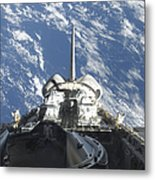 A Partial View Of Space Shuttle Metal Print