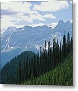A Scenic View Of The Rocky Mountains Metal Print