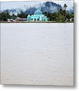 A Small Mosque On The Banks Of The River  Metal Print