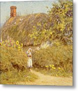 A Surrey Cottage Metal Print