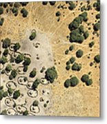 A Village On The Shores Of Lake Chad Metal Print