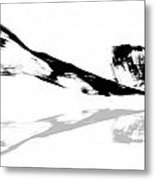 Abstract China Ink Paintings Metal Print
