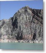 Acidic Crater Lake, Kawah Ijen Volcano Metal Print