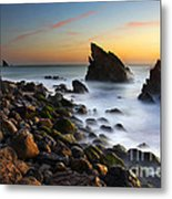 Adraga Beach Metal Print