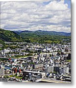 Aerial Japanese Cityscape Metal Print by Jeremy Woodhouse