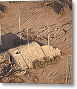 Aerial View Of A Destroyed Iraqi Metal Print