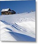 Alberta, Canada Abandoned Farm Building Metal Print by Philippe Widling