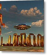 Alien Interdimensional Beings Recharge Metal Print
