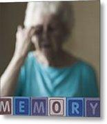 Alzheimer's Disease, Conceptual Image Metal Print