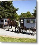 Amish Buggies Metal Print