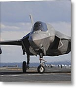 An Aviation Boatswains Mate Directs An Metal Print