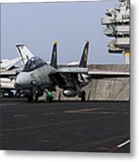 An F-14d Tomcat In Launch Position Metal Print