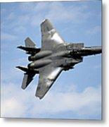 An F-15e Strike Eagle Soars Metal Print