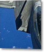 An F-22 Raptor In Flight Metal Print