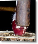 Apple Smashed With Mallet Metal Print