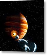 Artwork Of First Comet Impacts On Jupiter, 1994 Metal Print