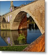 Avignon Bridge Metal Print