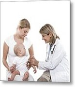 Baby Vaccination Metal Print by