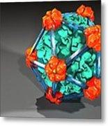 Bacteriophage Alpha 3, Artwork Metal Print
