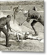 Baseball Game, 1885 Metal Print