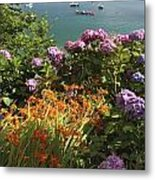 Bay Beside Glandore Village In West Metal Print