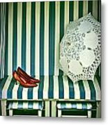 Beach Chair Metal Print by Joana Kruse