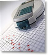 Blood Glucose Tester Metal Print