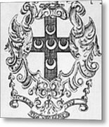 Bookplate, 18th Century Metal Print