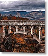 Bridge Over Autumn Metal Print