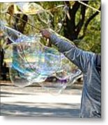 Bubble Boy Of Central Park Metal Print