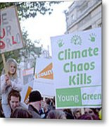 Campaign Against Climate Change March Metal Print