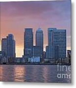 Canary Wharf In London Metal Print
