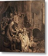 Christ Before Pilate Metal Print