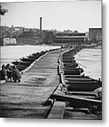 Civil War: Pontoon Bridge Metal Print