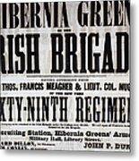 Civil War: Recruiting Metal Print